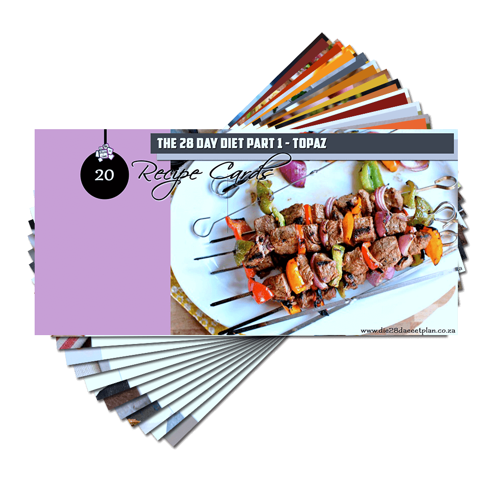 Recipe Cards Part 1 – Topaz Pack (E-Book)