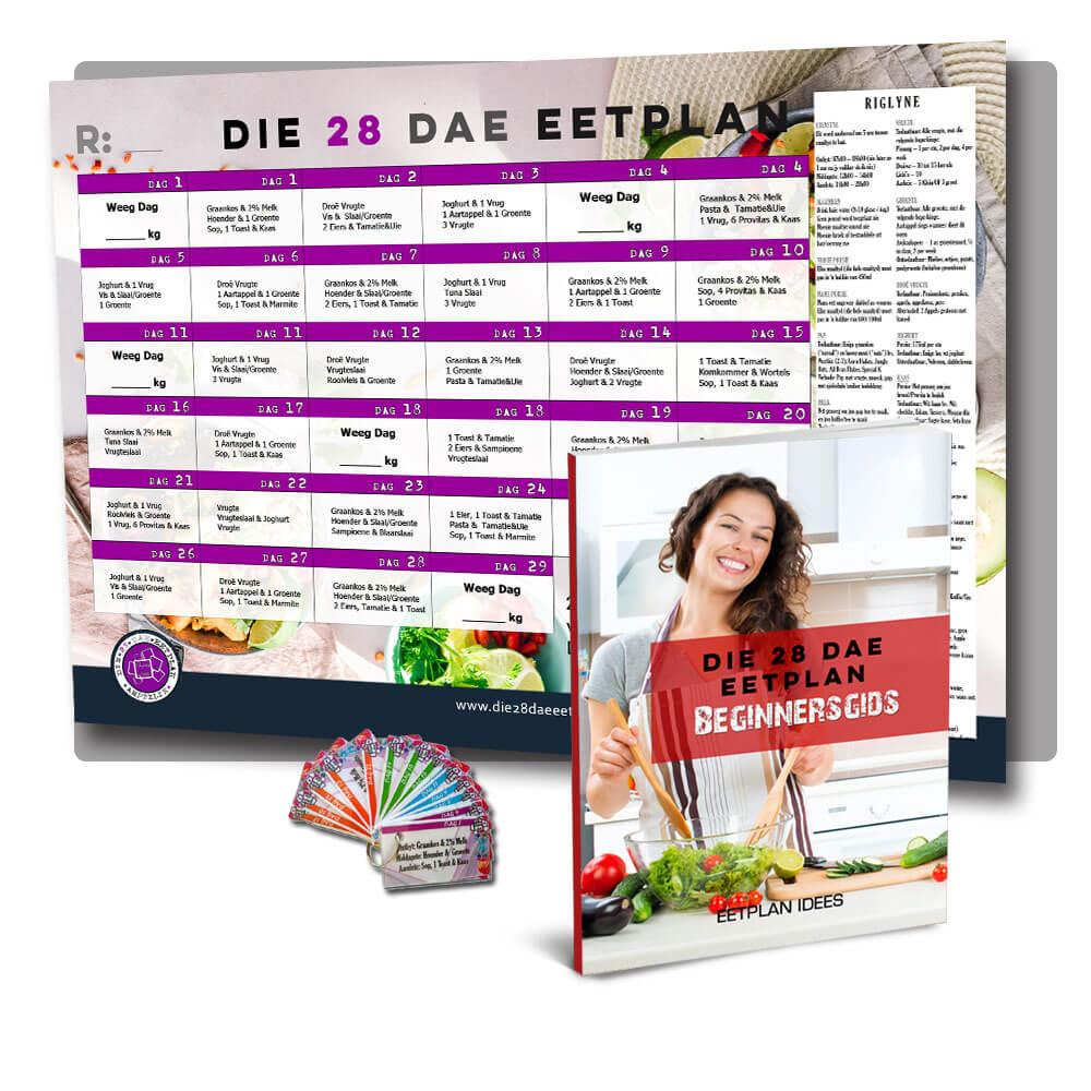 Die 28 Dae Eetplan<br>Beginnerspak